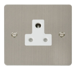 Click Define Stainless Steel 5A Round Pin Socket FPSS038WH