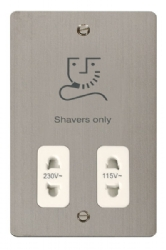 Click Define Stainless Steel Shaver Socket FPSS100WH