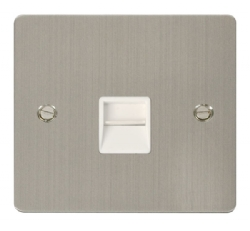 Click Define Stainless Steel Master Telephone Socket FPSS120WH