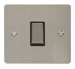 Click Define Stainless Steel 1 Gang 2 Way Switch FPSS411BK