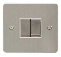 Click Define Stainless Steel 2 Gang 2 Way Switch FPSS412WH
