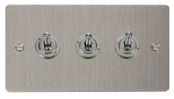 Click Define Stainless Steel 3 Gang 2 Way Toggle Switch FPSS423