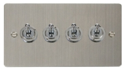 Click Define Stainless Steel 4 Gang 2 Way Toggle Switch FPSS424