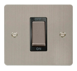 Click Define Stainless Steel 1G 45A Double Pole Switch FPSS500BK