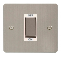Click Define Stainless Steel 1G 45A Double Pole Switch FPSS500WH