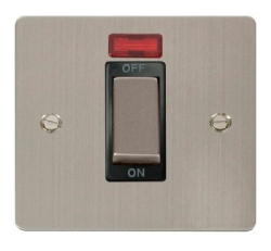 Click Define Stainless Steel 1G 45A DP Switch + Neon FPSS501BK