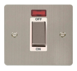 Click Define Stainless Steel 1G 45A DP Switch + Neon FPSS501WH