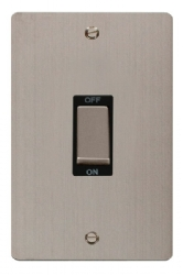Click Define Stainless Steel 45A Vertical DP Switch FPSS502BK