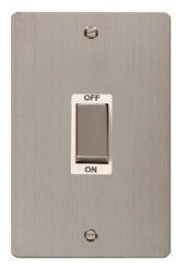 Click Define Stainless Steel 45A Vertical DP Switch FPSS502WH