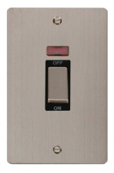 Click Define Stainless Steel 45A DP Switch with Neon FPSS503BK