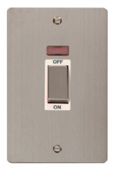 Click Define Stainless Steel 45A DP Switch with Neon FPSS503WH