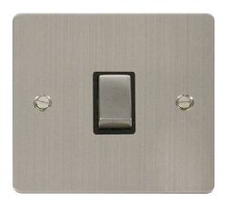 Click Define Stainless Steel 20A Double Pole Switch FPSS722BK