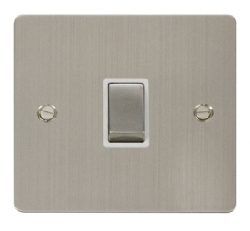 Click Define Stainless Steel 20A Double Pole Switch FPSS722WH