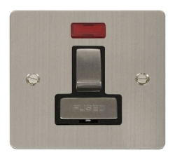 Click Define Stainless Steel Switched Fused Spur Neon FPSS752BK