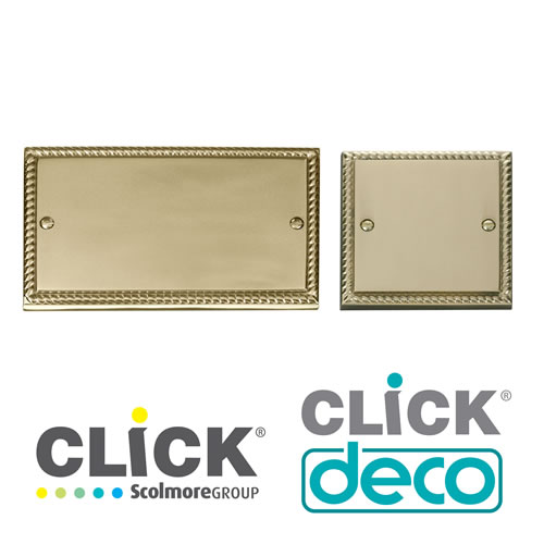 Deco Georgian Brass Blank Plates