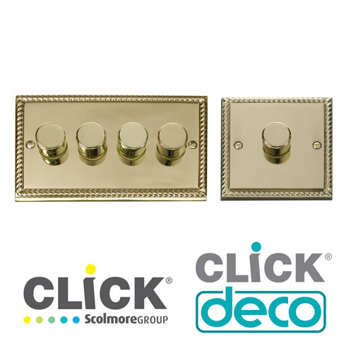 Deco Georgian Brass Dimmers