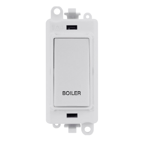 Click Grid Pro GM2018PW-BL Double Pole Switch Mod White Boiler