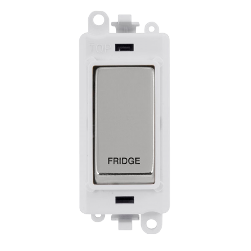Click Grid Pro GM2018PWCH-FD DP Module White Pol/Chrome Fridge