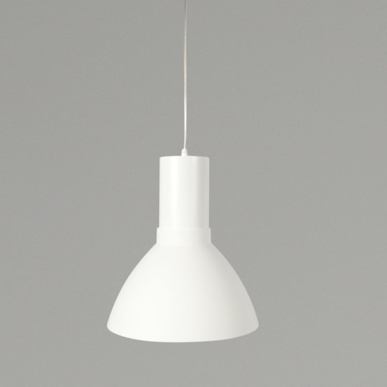 KSR Mika 9W 3000K LED White Pendant Light with White Shade