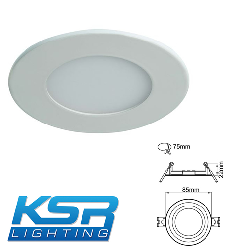 KSR Lighting Starlet 3W 4000K Flat LED Panel Downlight KSR9790