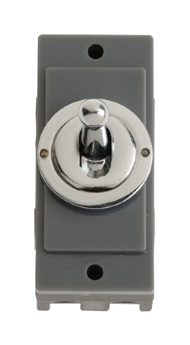 Click MD9102CH Polished Chrome 10A Toggle Switch Module