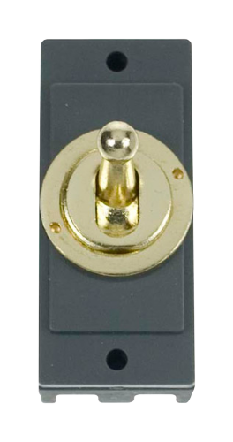 Click MD9125BR Polished Brass 10A Intermediate Toggle Sw Module