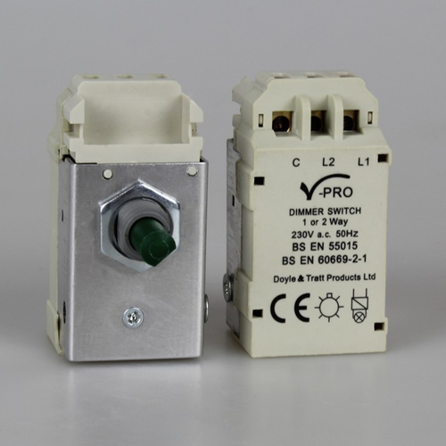 Varilight MJP300 2-Way Push-On/Off Rotary LED Dimmer 0-300W