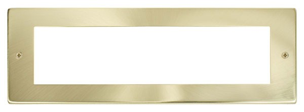 Click New Media Satin Brass 8 Module Front Plate MP508SB