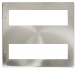 Click New Media Satin Chrome 16 Module Front Plate MP516SC