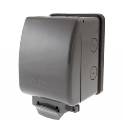 Click AquIP Weatherproof IP66 1 Gang Empty Enclosure OA501AG