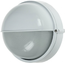 Click Ovia OL425WH White 60W ES Round Bulkhead Light with Eyelid
