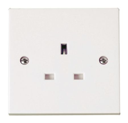 Click Polar 13A 1 Gang Unswitched Socket Outlet PRW030