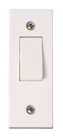 Click Polar 10AX 1 Gang 2 Way Architrave Switch PRW171