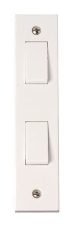 Click Polar 2 Gang 2 Way Architrave Switch PRW172