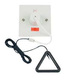 Click 50A Double Pole Pullcord Switch with Grey Bangle PRW211AG