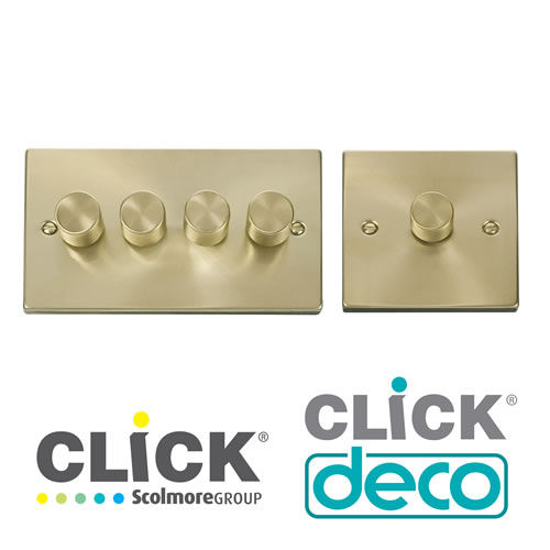 Deco Satin Brass Dimmers