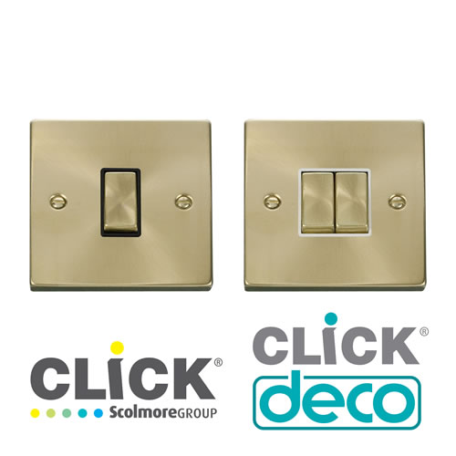 Deco Satin Brass Switches