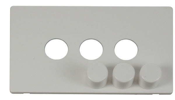 Click Definity 3 Gang Dimmer Switch Cover Plate & Knobs SCP243PW