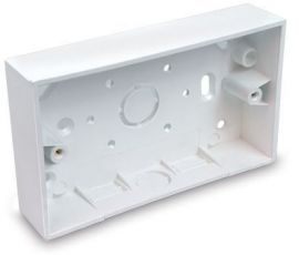 Univolt 2G 32mm Square Surface PVC Box KO/Trunking Entry SFB2