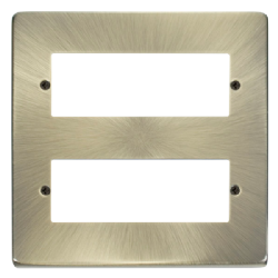 Click Deco Antique Brass 12 Way Mini-Grid Plate VPAB512