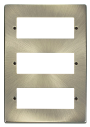 Click Deco Antique Brass 18 Way Mini-Grid Plate VPAB518