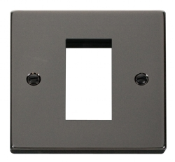 Click Deco Black Nickel New Media Single Aperture Plate VPBN310