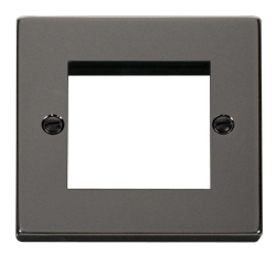 Click Deco Black Nickel New Media Twin Aperture Plate VPBN311