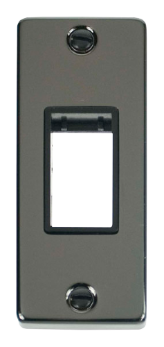 Click Deco Black Nickel 1 Gang Architrave Plate VPBN471BK
