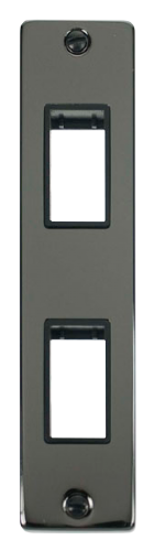 Click Deco Black Nickel 2 Gang Architrave Plate VPBN472BK