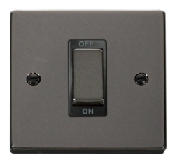 Click Deco Black Nickel 1 Gang 45A Double Pole Switch VPBN500BK