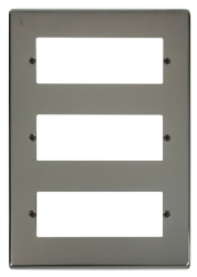 Click Deco Black Nickel 18 Way Mini-Grid Plate VPBN518