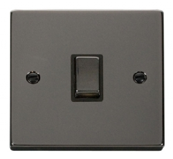Click Deco Black Nickel 20A Double Pole Switch VPBN722BK