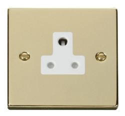 Click Deco Polished Brass 5A Single Round Pin Socket VPBR038WH