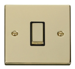 Click Deco Polished Brass 1 Gang 2 Way Switch VPBR411BK